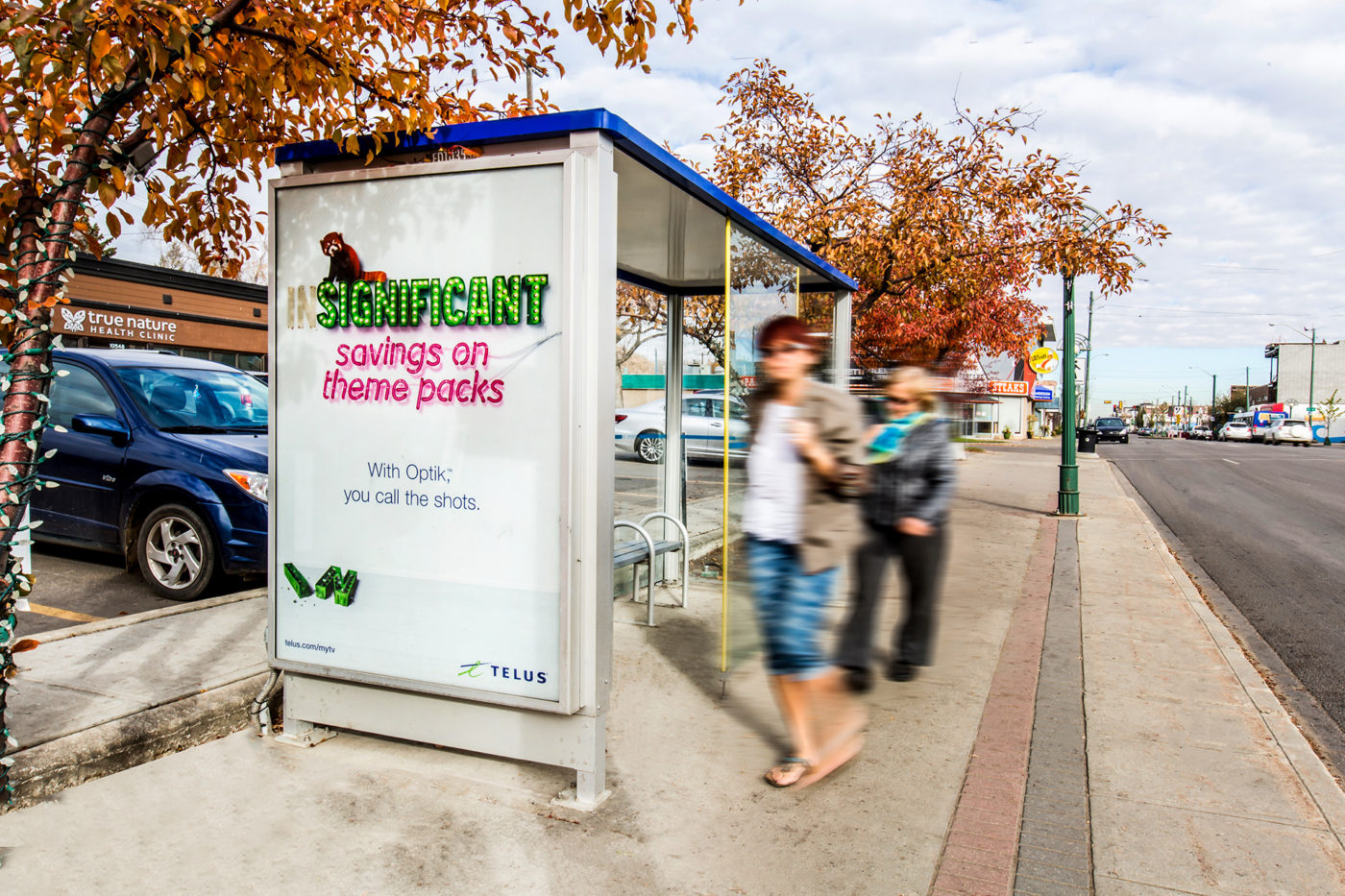 Telus - Optik - Street Furniture - Transit Shelter (Edmonton, Alberta)