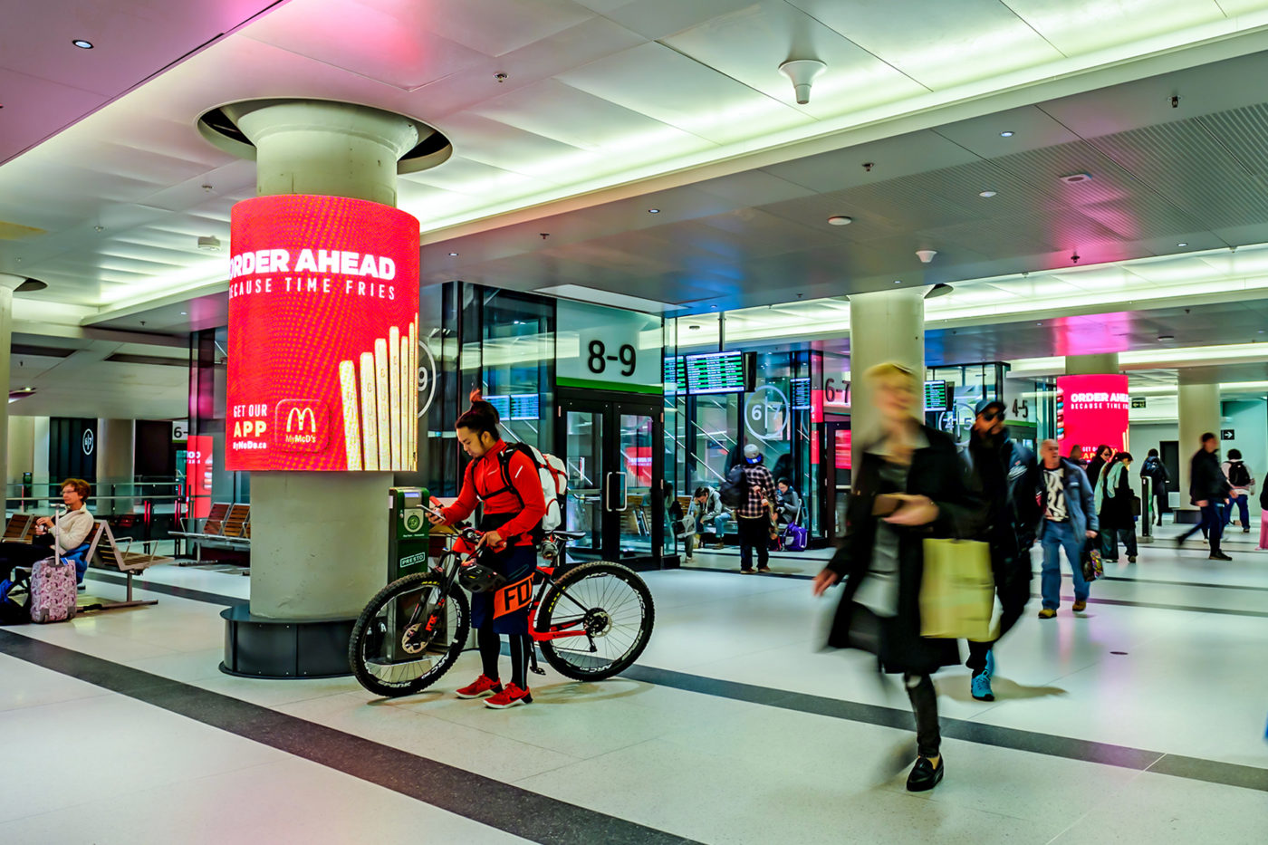 McDonald's - App - Union Station - Digital Column Wraps (Toronto, Ontario)