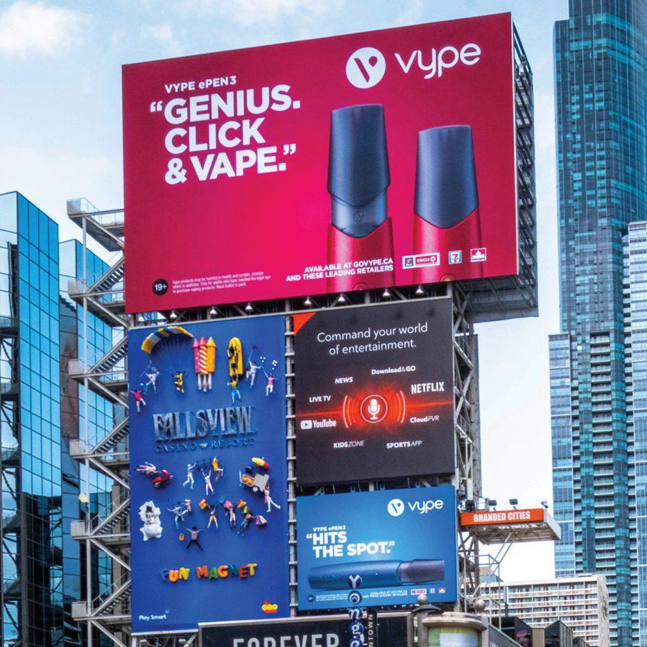 Vype - ePen 3 - Yonge-Dundas Square - AOB Media Tower (Toronto, Ontario)