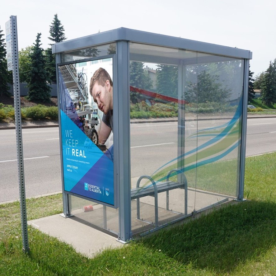 Sherwood Park - We Keep It Real - Street Furniture - Bus Shelter (Edmonton, Alberta)