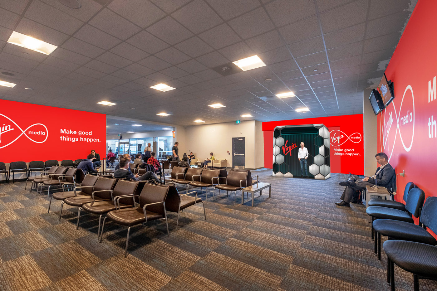 Virgin Media - Billy Bishop Toronto City Airport - Departures - Hologram Activation (Toronto, Ontario)
