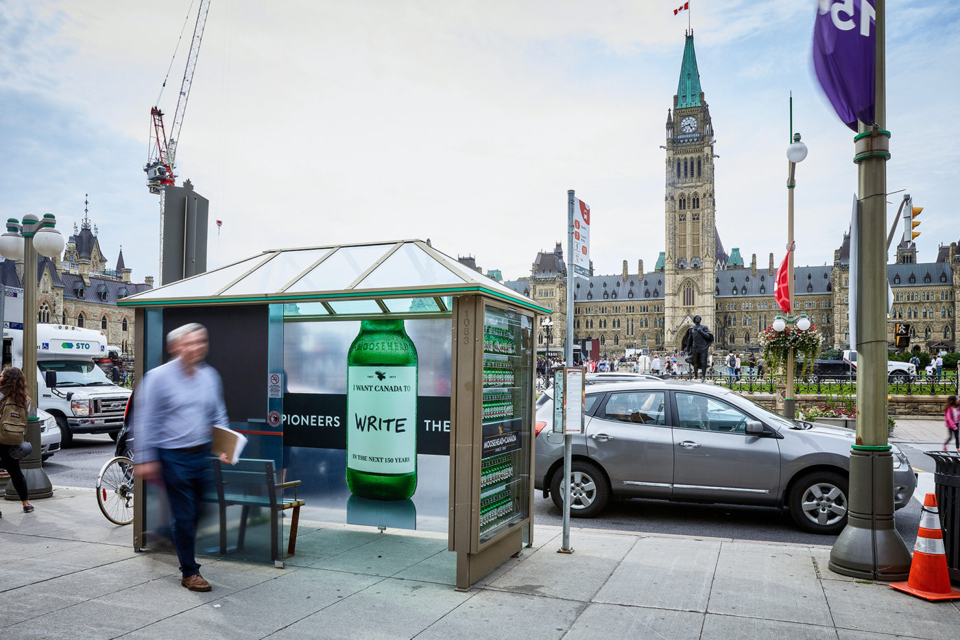 Moosehead Canada - Street Furniture - Decorative Transit Shelter (Ottawa, Ontario)