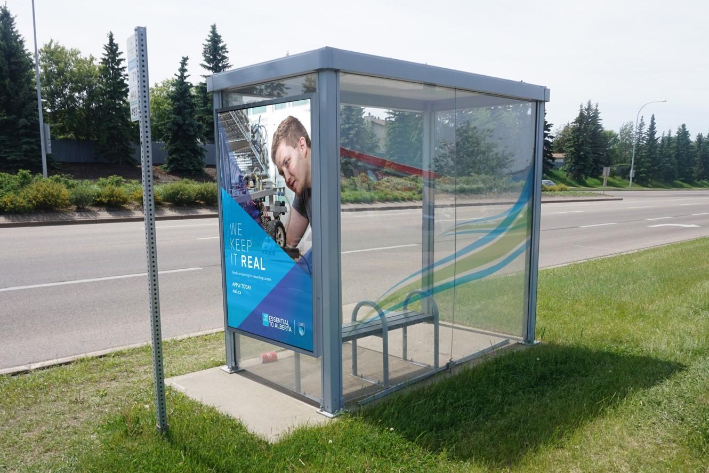 Sherwood Park - We Keep It Real - Street Furniture - Bus Shelter (Edmonton, Alberta)