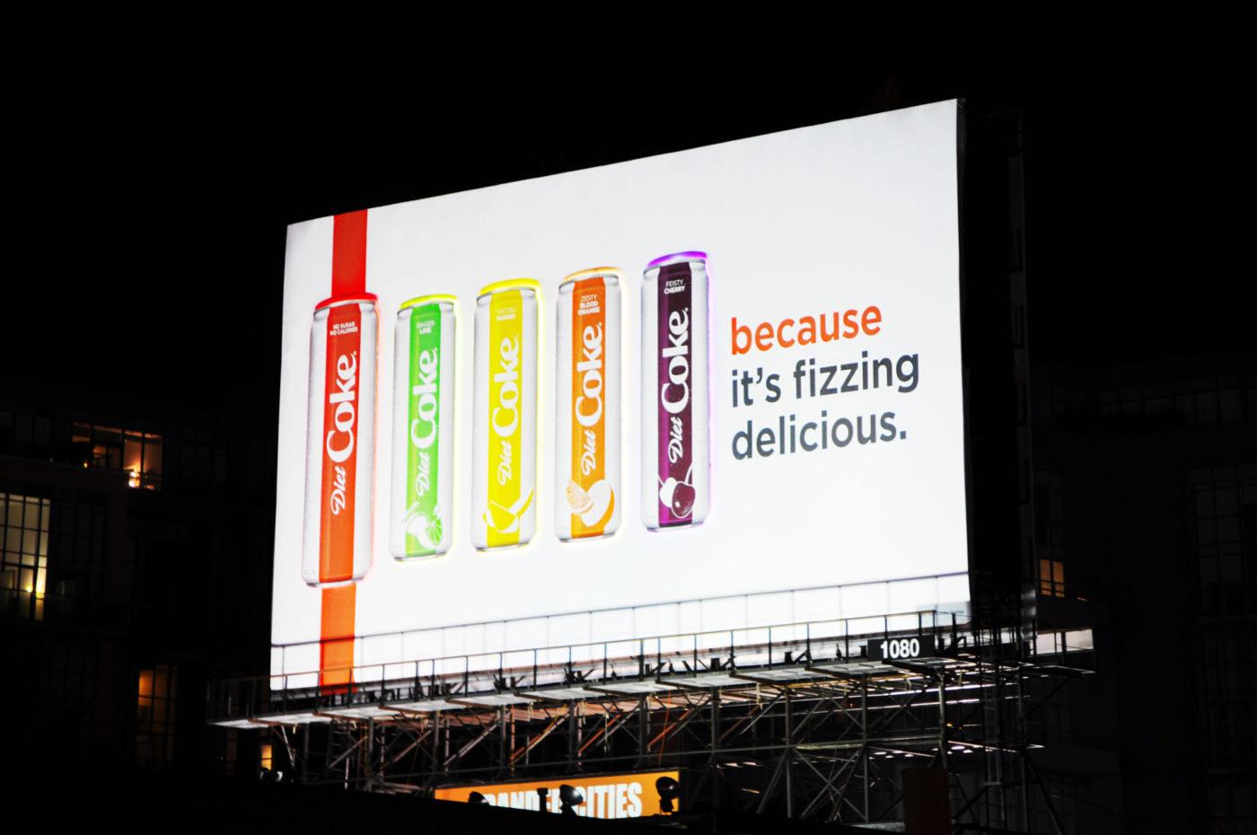 Coke Diète– «Fizzing Delicious»– spectaculaires– GEW1080 (Toronto, Ontario)