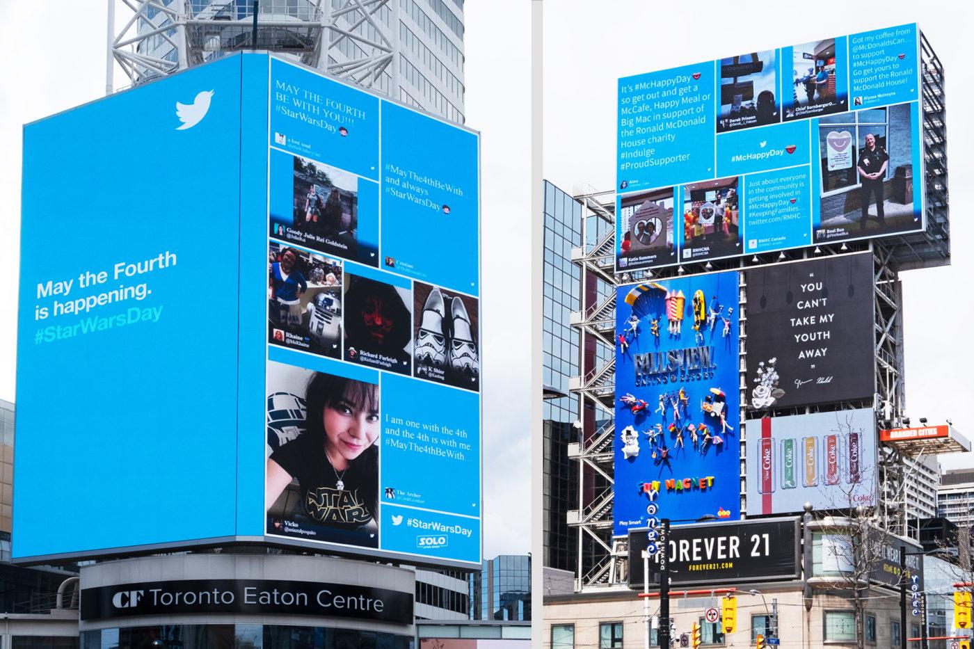 Twitter, Star Wars - Yonge-Dundas Square - CF TEC Tower + AOB Media Tower (Toronto, Ontario)